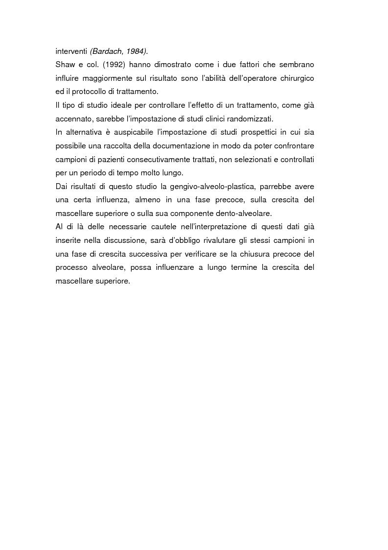 Anteprima della tesi: La crescita cranio-facciale nei pazienti affetti da labiopalatoschisi monolaterale completa: studio multicentric, Pagina 6