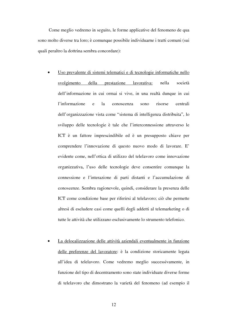 Anteprima della tesi: Il telelavoro nelle pubbliche amministrazioni, Pagina 12