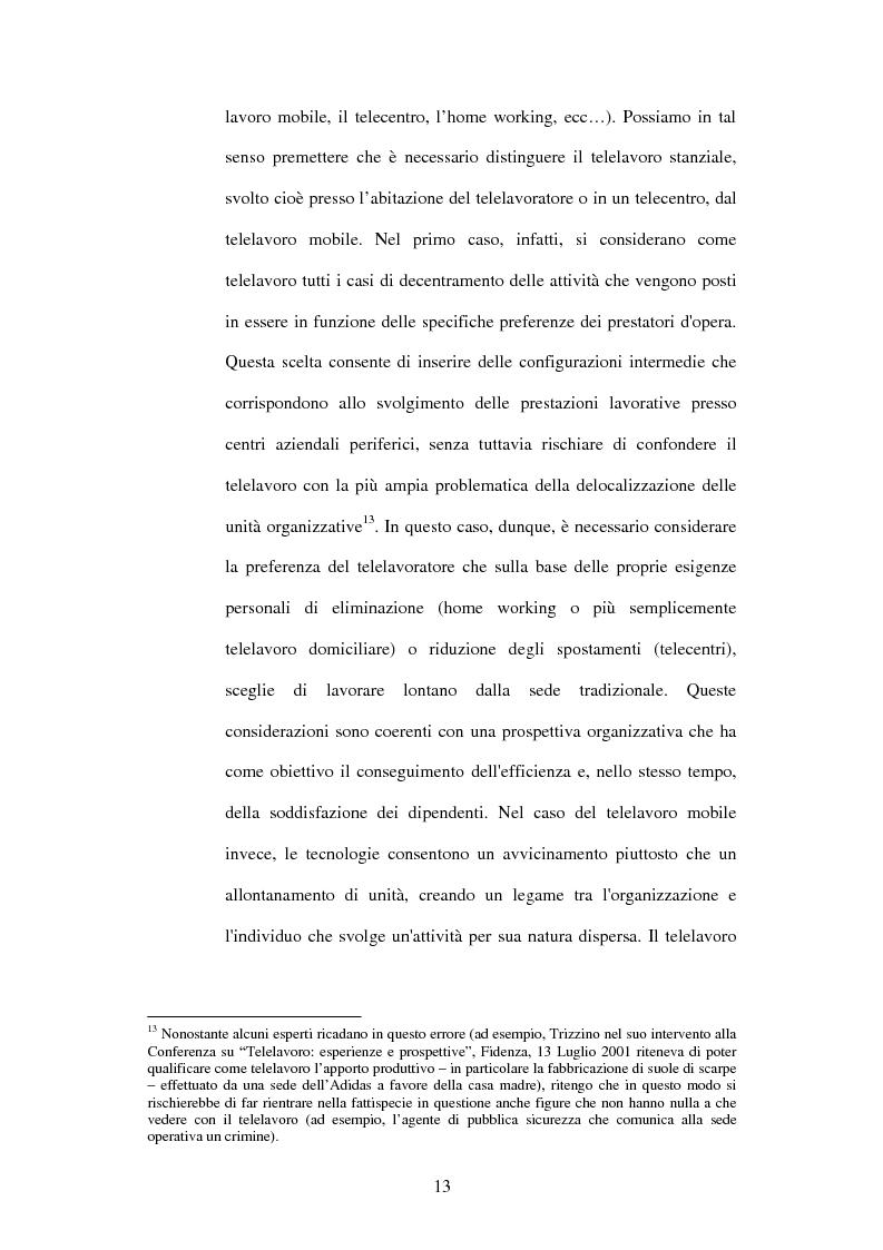 Anteprima della tesi: Il telelavoro nelle pubbliche amministrazioni, Pagina 13