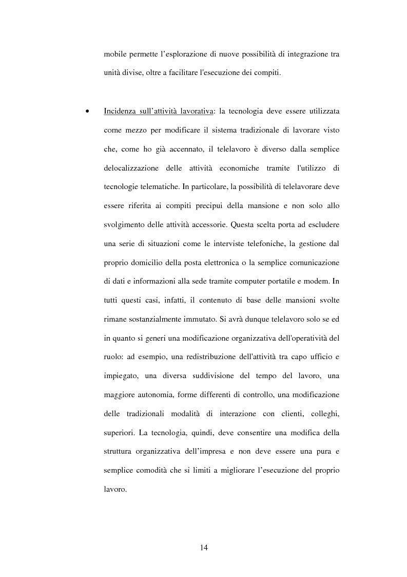 Anteprima della tesi: Il telelavoro nelle pubbliche amministrazioni, Pagina 14
