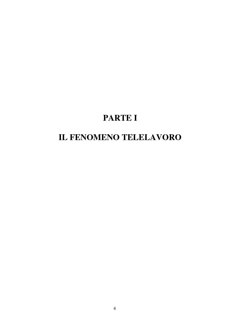 Anteprima della tesi: Il telelavoro nelle pubbliche amministrazioni, Pagina 4