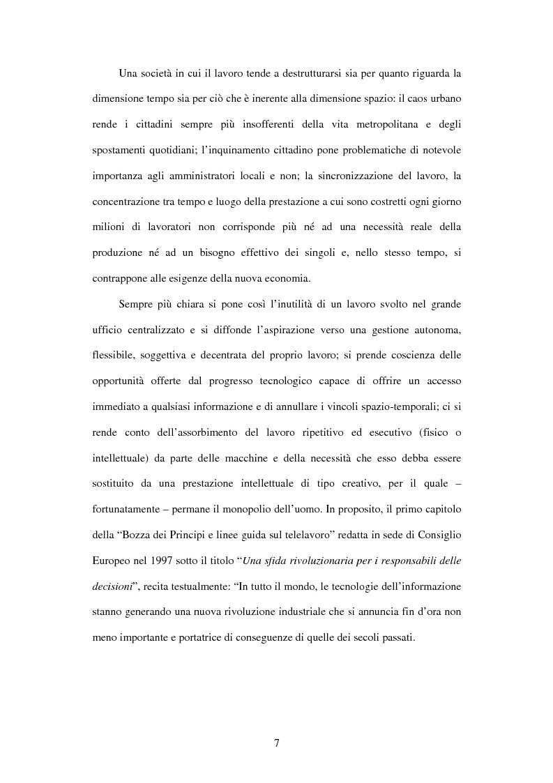 Anteprima della tesi: Il telelavoro nelle pubbliche amministrazioni, Pagina 7