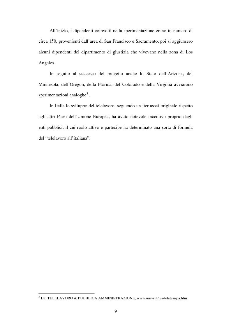 Anteprima della tesi: Il telelavoro nelle pubbliche amministrazioni, Pagina 9