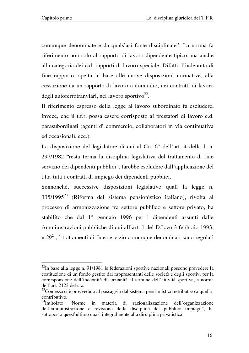 Estratto dalla tesi: Il T.F.R. e la previdenza integrativa nei bilanci S.p.A.