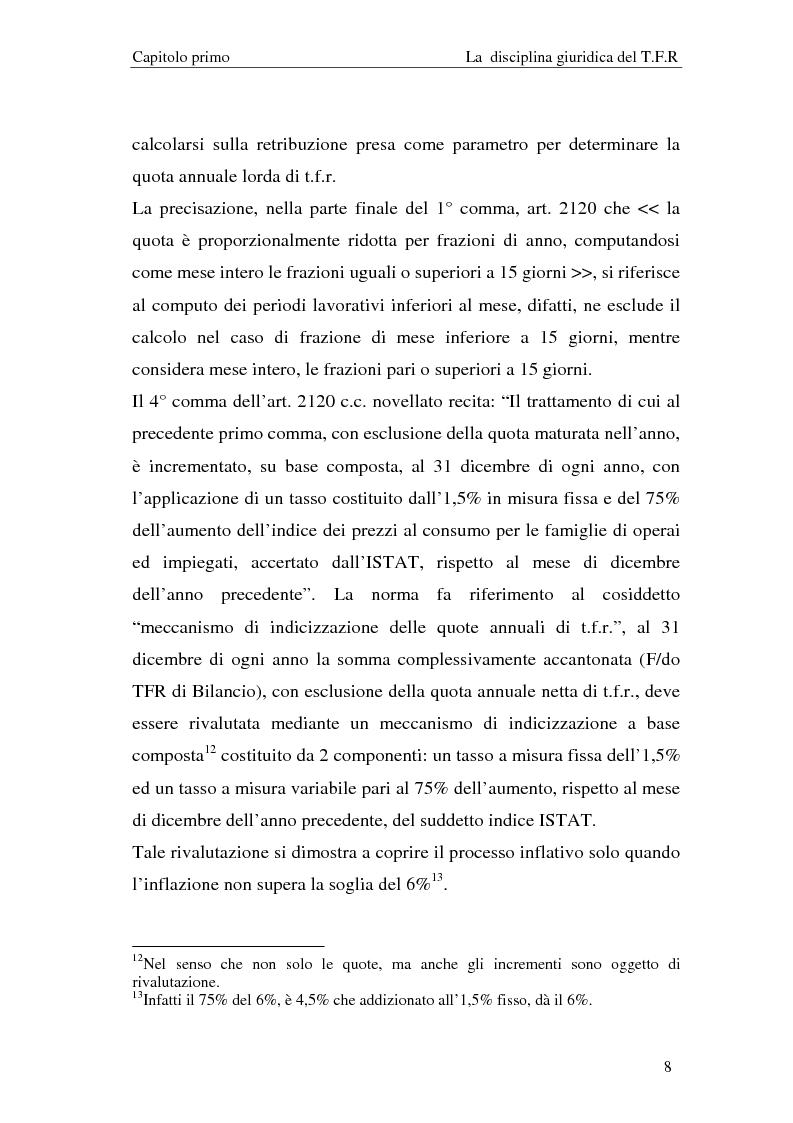 Anteprima della tesi: Il T.F.R. e la previdenza integrativa nei bilanci S.p.A., Pagina 10