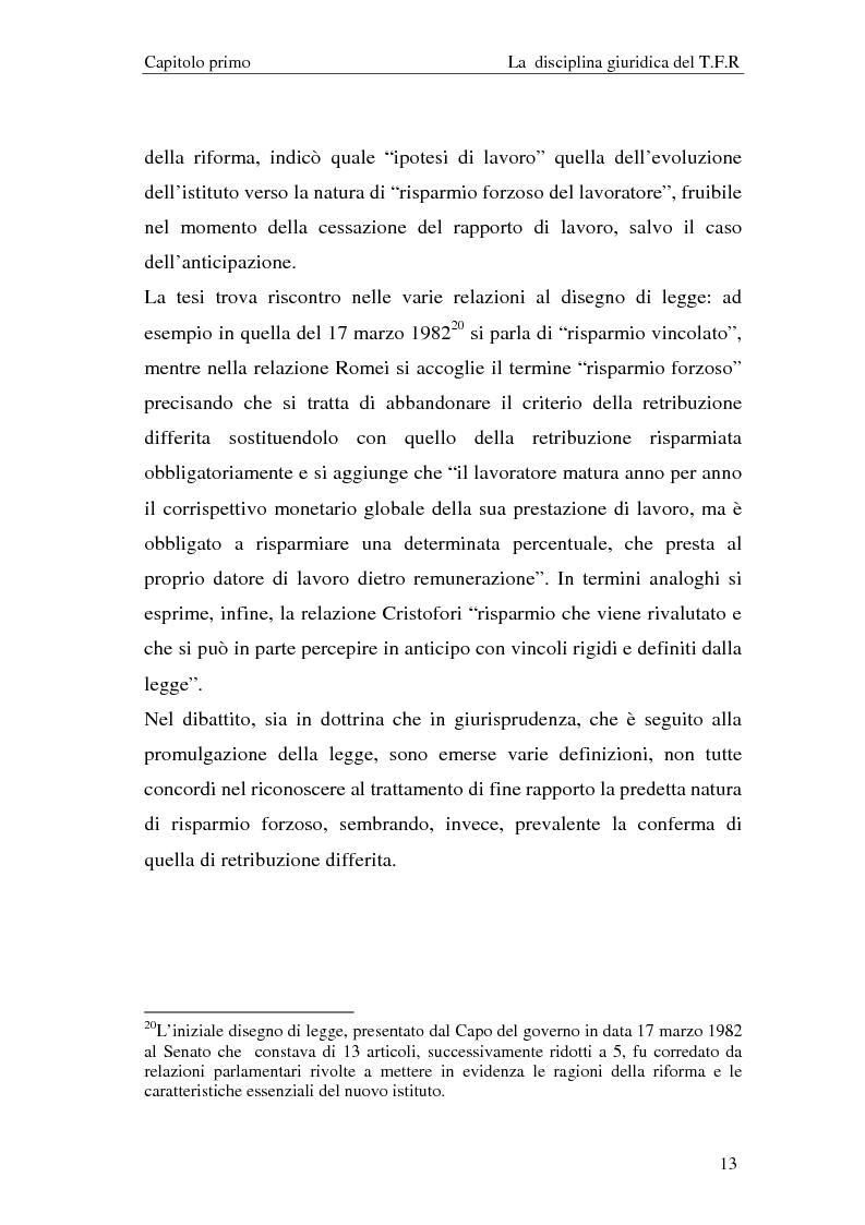 Anteprima della tesi: Il T.F.R. e la previdenza integrativa nei bilanci S.p.A., Pagina 15