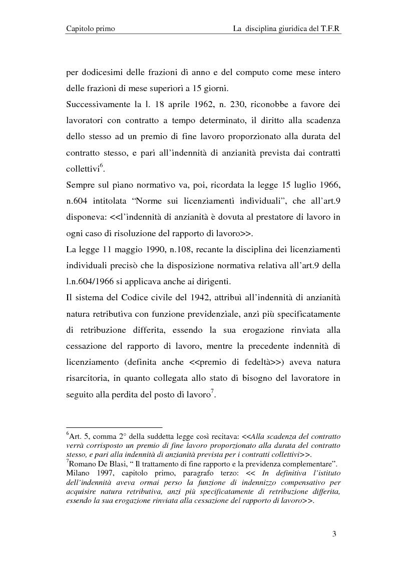Anteprima della tesi: Il T.F.R. e la previdenza integrativa nei bilanci S.p.A., Pagina 5