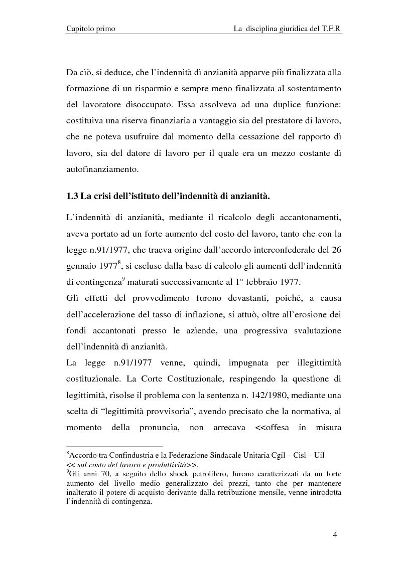 Anteprima della tesi: Il T.F.R. e la previdenza integrativa nei bilanci S.p.A., Pagina 6