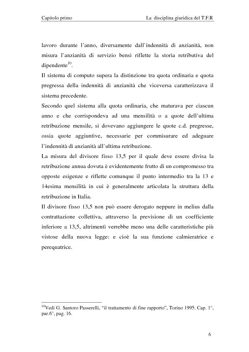 Anteprima della tesi: Il T.F.R. e la previdenza integrativa nei bilanci S.p.A., Pagina 8