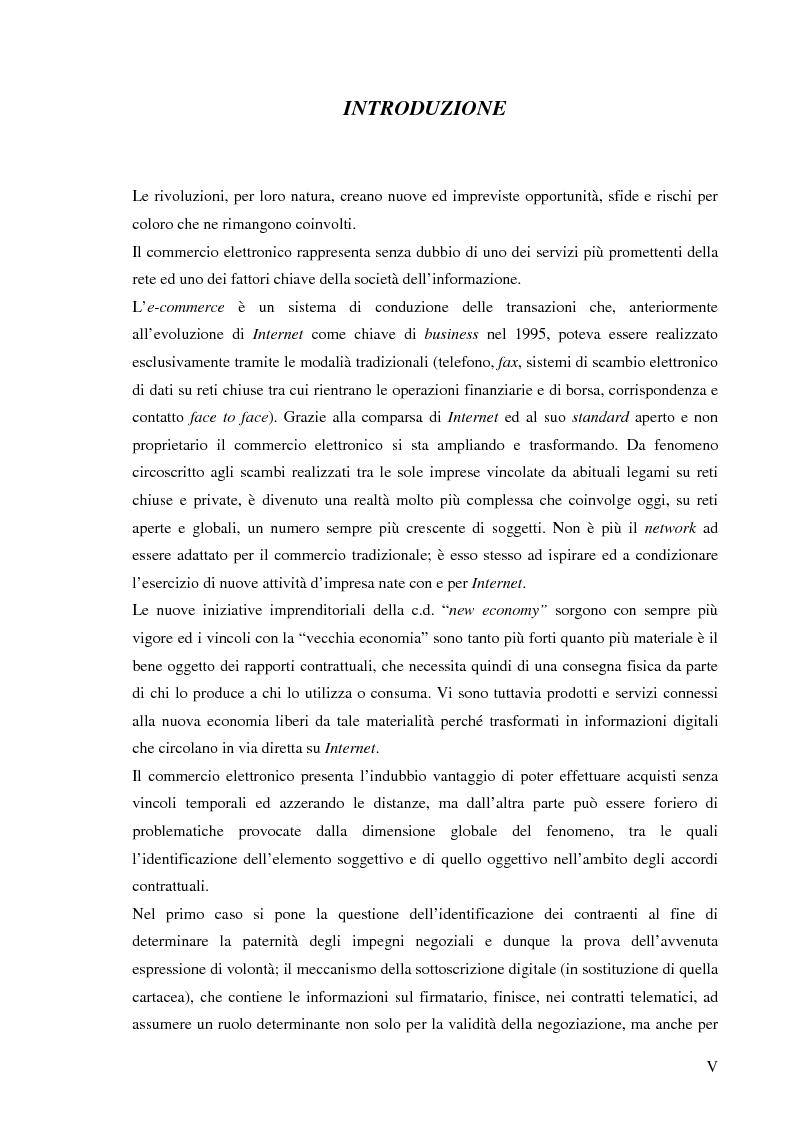 Anteprima della tesi: Le responsabilità contrattuali nell'e-commerce, Pagina 1