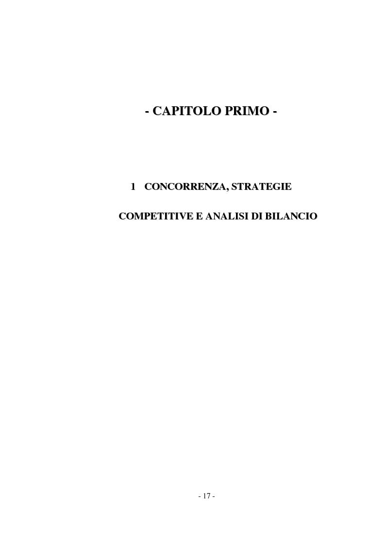 Anteprima della tesi: Tecniche di analisi della competizione, Pagina 11