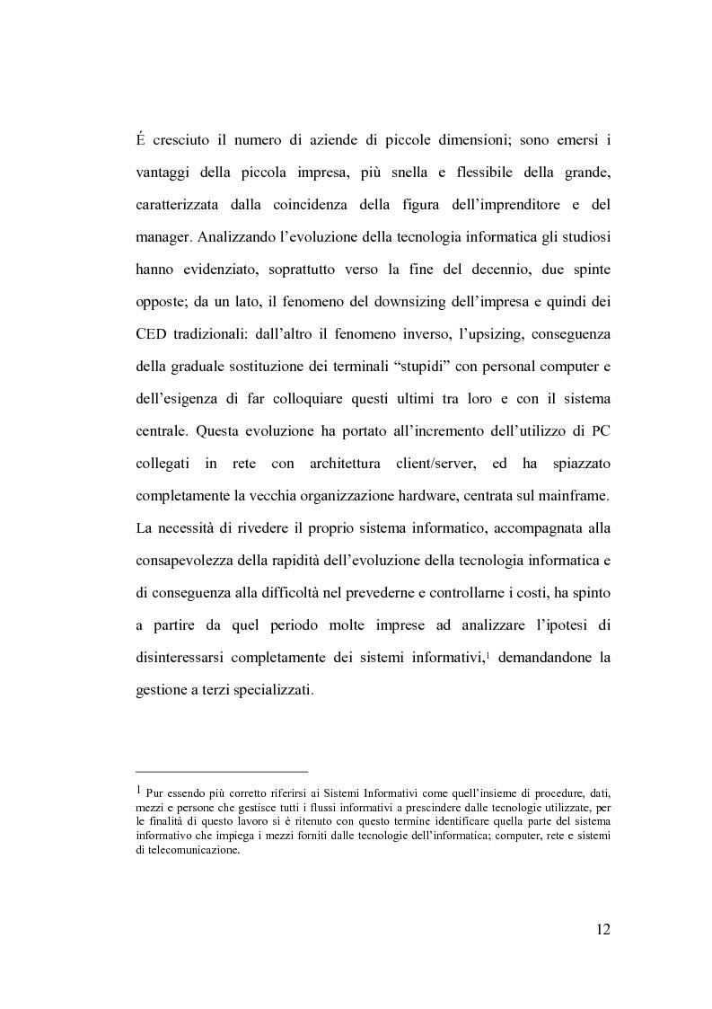 Anteprima della tesi: La banca e l'outsourcing dei sistemi informativi, Pagina 7