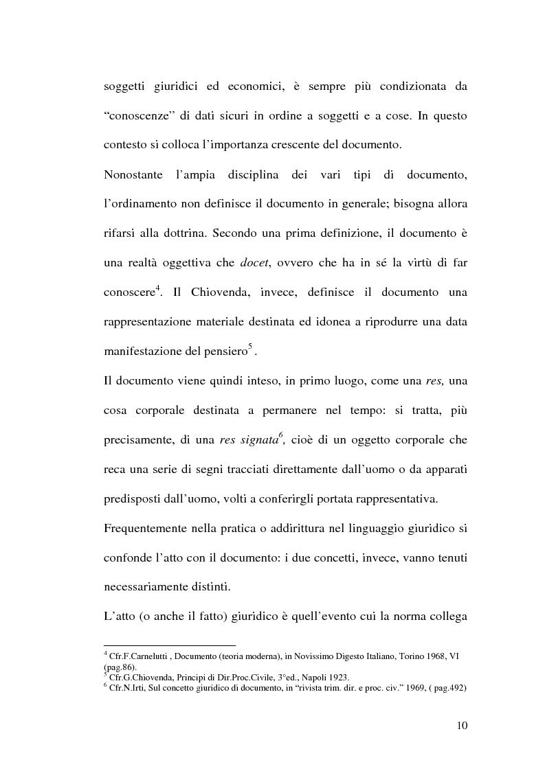 Anteprima della tesi: La firma digitale nella Pubblica Amministrazione. L'esperienza pratica dell'Ussl 9 di Treviso, Pagina 10
