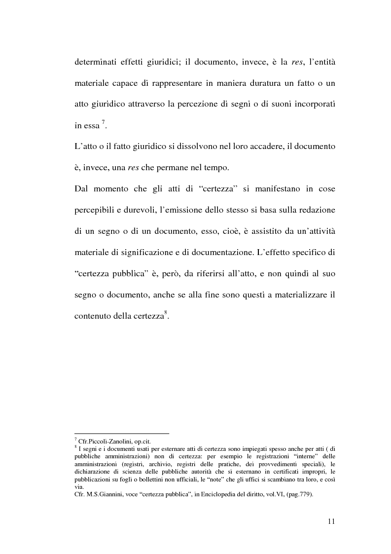Anteprima della tesi: La firma digitale nella Pubblica Amministrazione. L'esperienza pratica dell'Ussl 9 di Treviso, Pagina 11