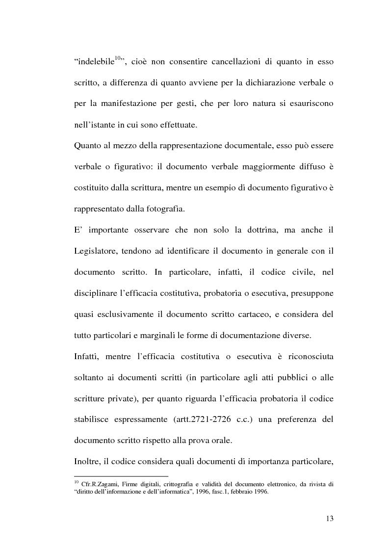 Anteprima della tesi: La firma digitale nella Pubblica Amministrazione. L'esperienza pratica dell'Ussl 9 di Treviso, Pagina 13