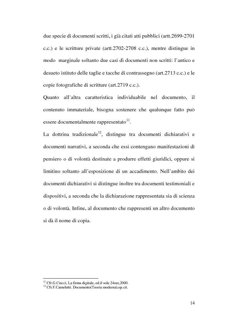 Anteprima della tesi: La firma digitale nella Pubblica Amministrazione. L'esperienza pratica dell'Ussl 9 di Treviso, Pagina 14
