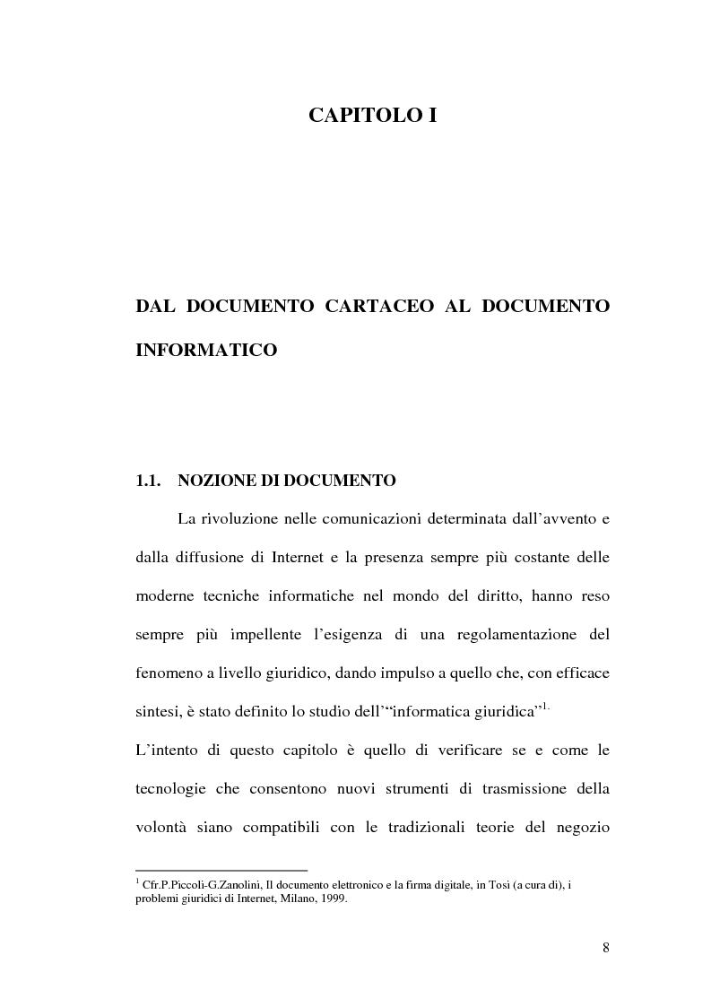 Anteprima della tesi: La firma digitale nella Pubblica Amministrazione. L'esperienza pratica dell'Ussl 9 di Treviso, Pagina 8
