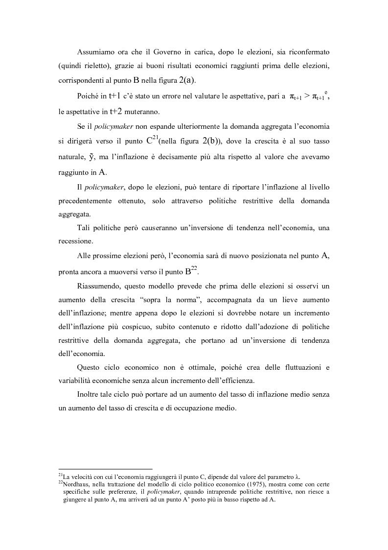 Anteprima della tesi: Sviluppi recenti della teoria del ciclo politico, Pagina 11