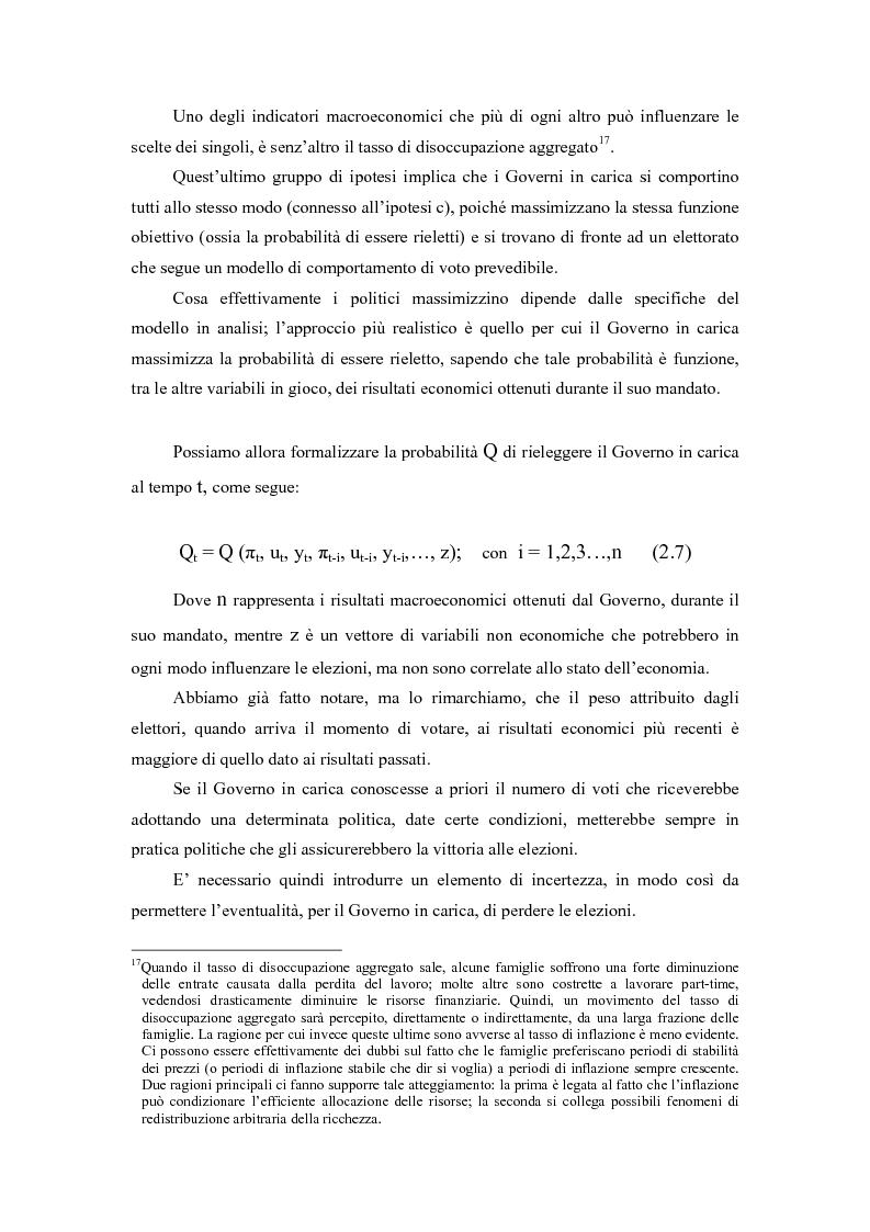 Anteprima della tesi: Sviluppi recenti della teoria del ciclo politico, Pagina 8
