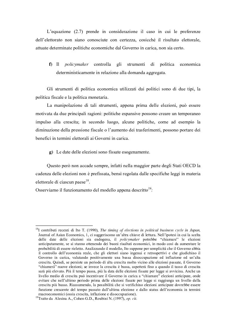 Anteprima della tesi: Sviluppi recenti della teoria del ciclo politico, Pagina 9