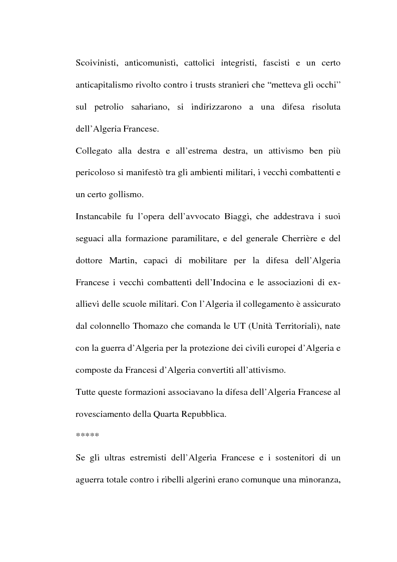 Anteprima della tesi: Il problema algerino e de Gaulle, Pagina 6