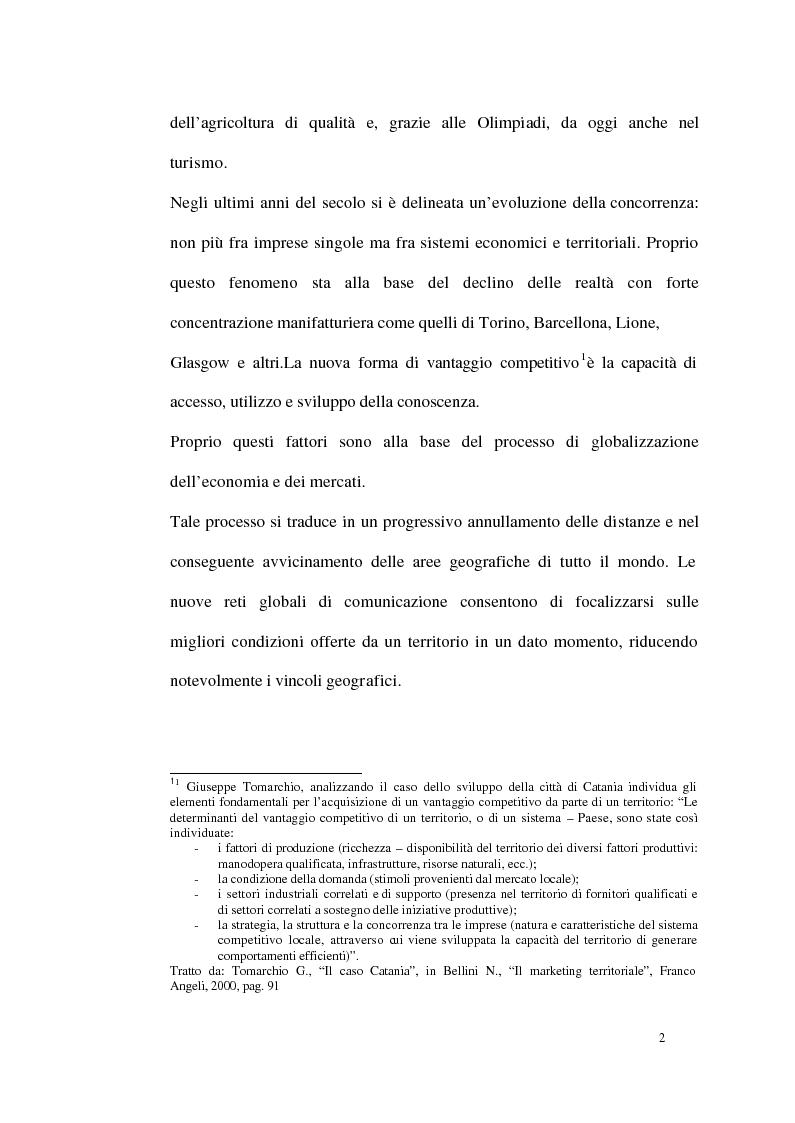 Anteprima della tesi: Un modello di sviluppo socio-economico per Torino. Una città in forte cambiamento, Pagina 2