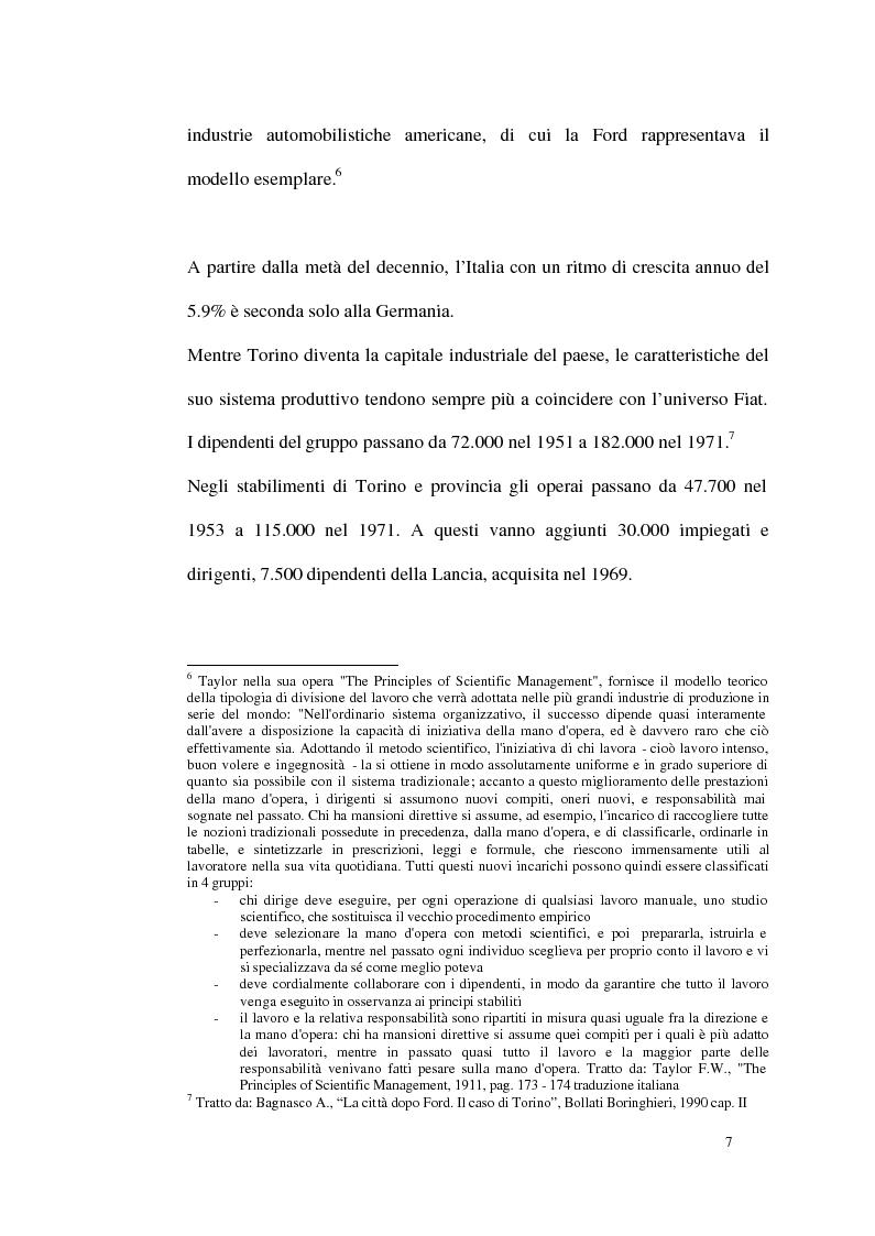 Anteprima della tesi: Un modello di sviluppo socio-economico per Torino. Una città in forte cambiamento, Pagina 7
