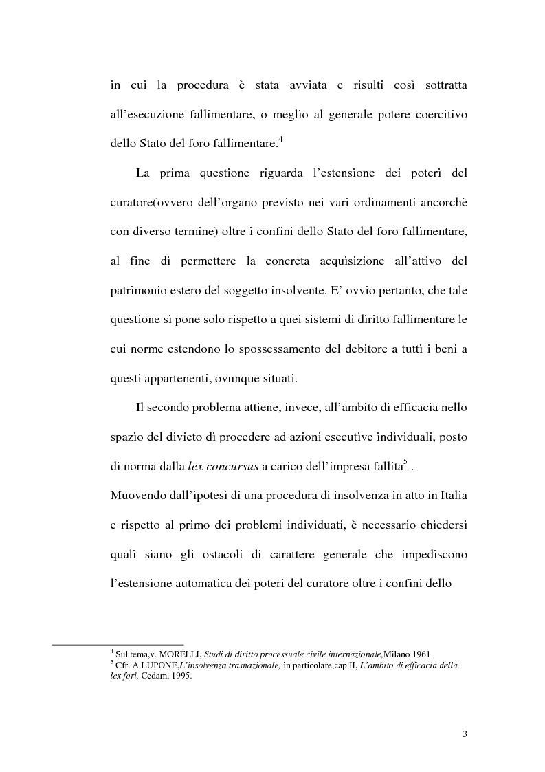 Anteprima della tesi: Il fallimento transfrontaliero nel regolamento comunitario 1346/2000 del 29 maggio 2000, Pagina 11