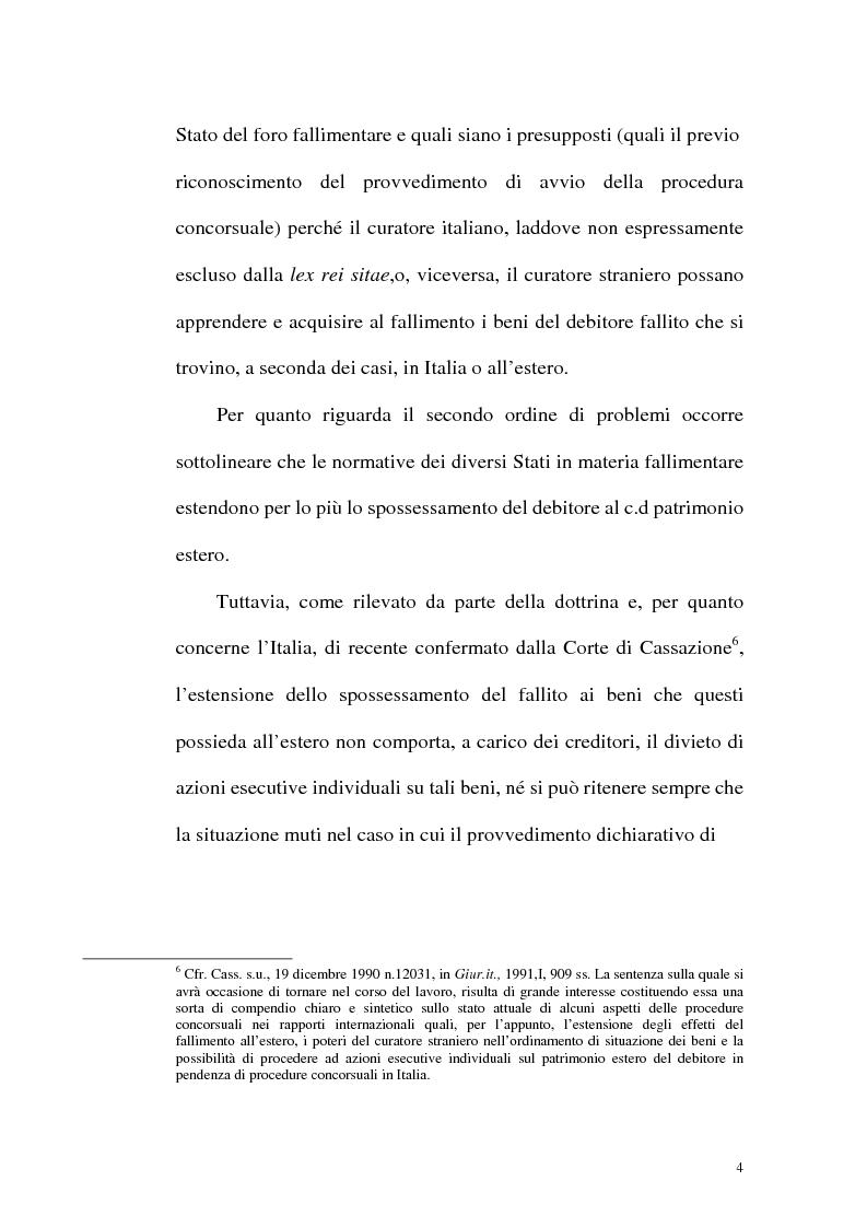 Anteprima della tesi: Il fallimento transfrontaliero nel regolamento comunitario 1346/2000 del 29 maggio 2000, Pagina 12