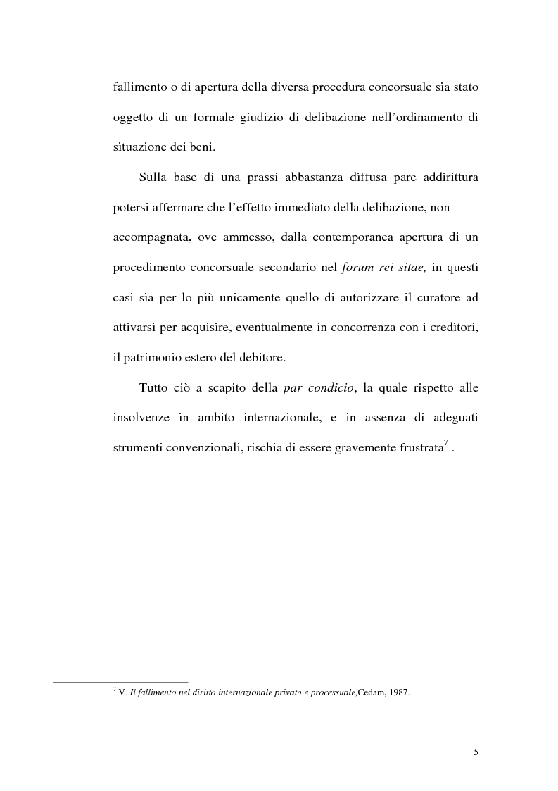 Anteprima della tesi: Il fallimento transfrontaliero nel regolamento comunitario 1346/2000 del 29 maggio 2000, Pagina 13