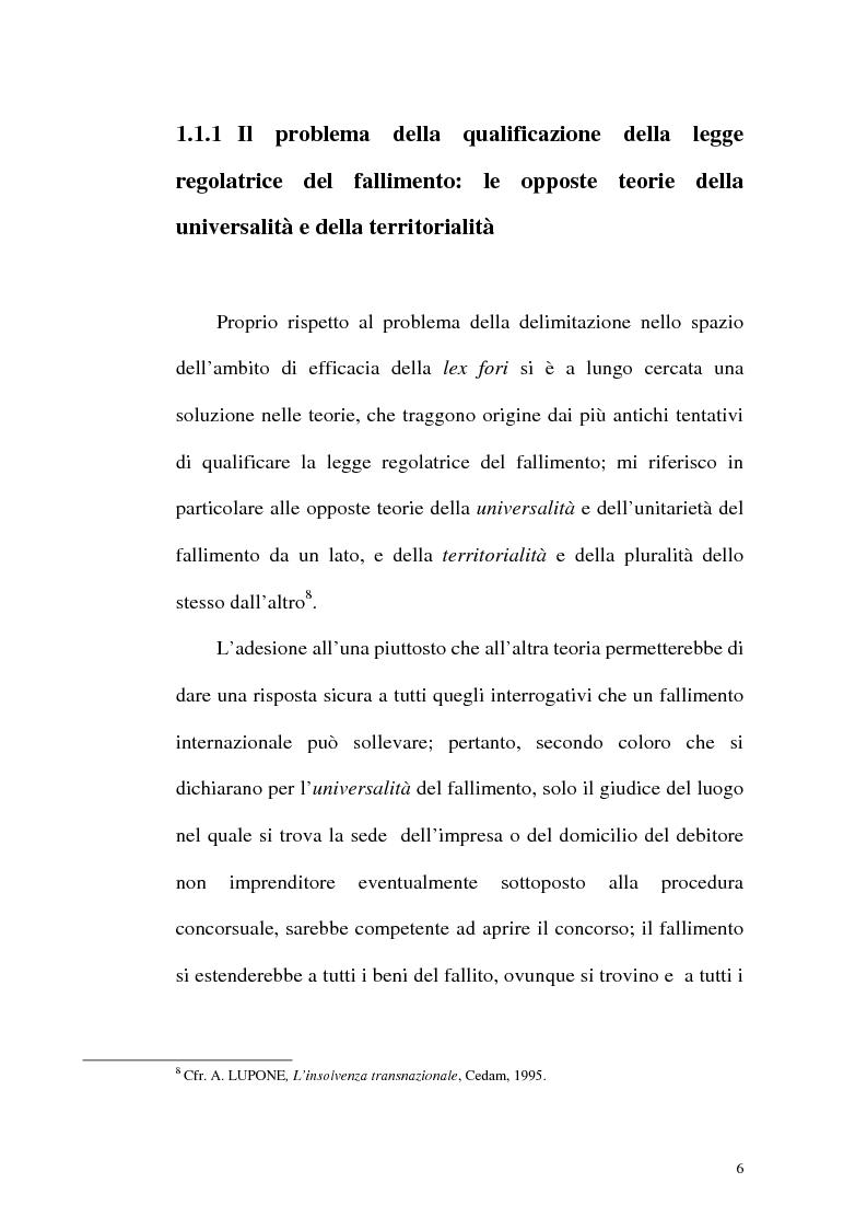 Anteprima della tesi: Il fallimento transfrontaliero nel regolamento comunitario 1346/2000 del 29 maggio 2000, Pagina 14