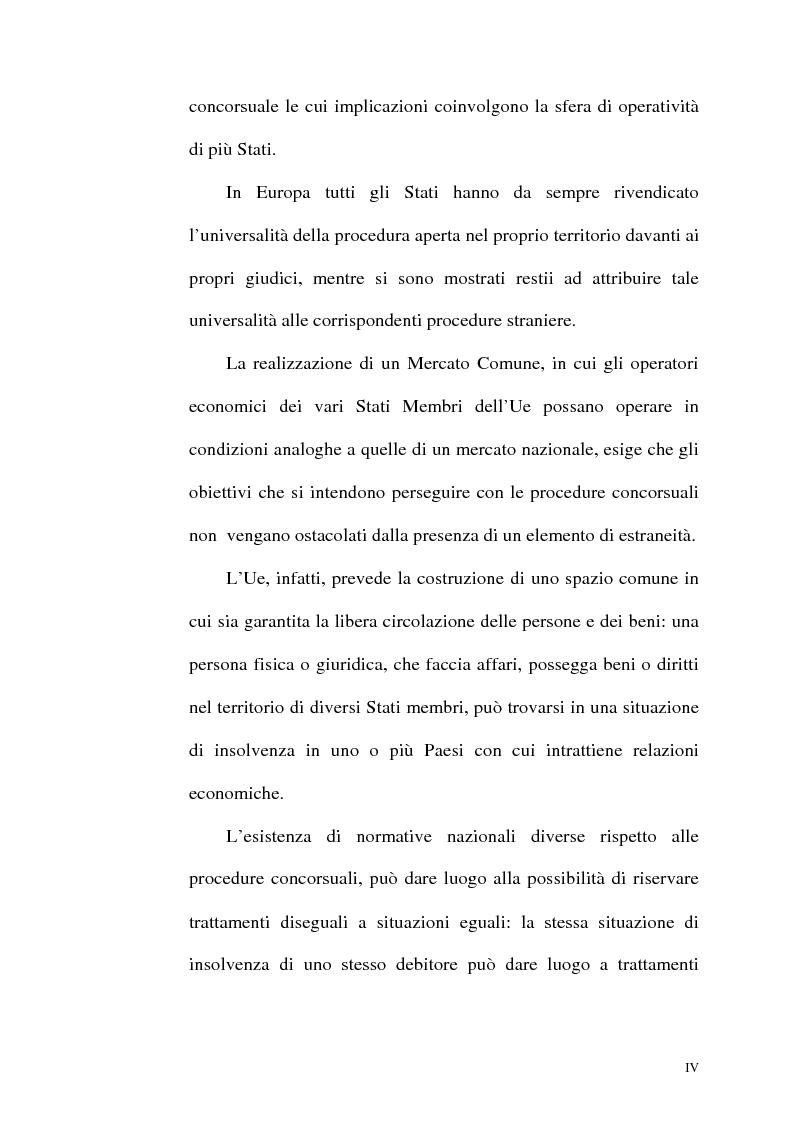 Anteprima della tesi: Il fallimento transfrontaliero nel regolamento comunitario 1346/2000 del 29 maggio 2000, Pagina 4