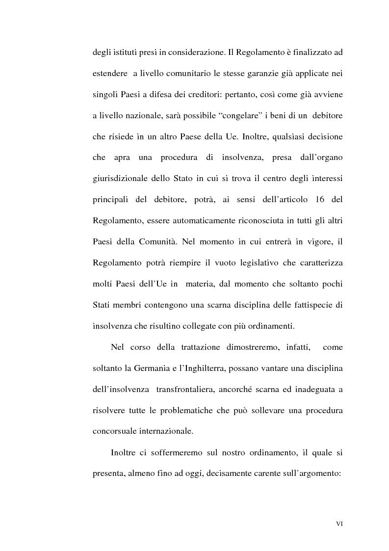 Anteprima della tesi: Il fallimento transfrontaliero nel regolamento comunitario 1346/2000 del 29 maggio 2000, Pagina 6