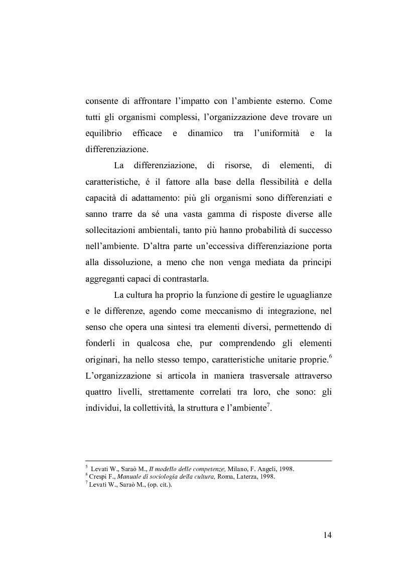 Anteprima della tesi: Il cambiamento culturale. Sviluppo, aggiornamento e consolidamento delle competenze: il caso Italferr, Pagina 11