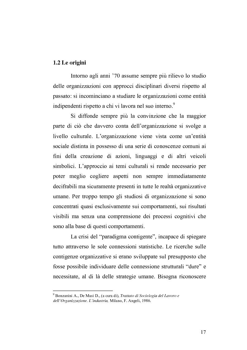 Anteprima della tesi: Il cambiamento culturale. Sviluppo, aggiornamento e consolidamento delle competenze: il caso Italferr, Pagina 14