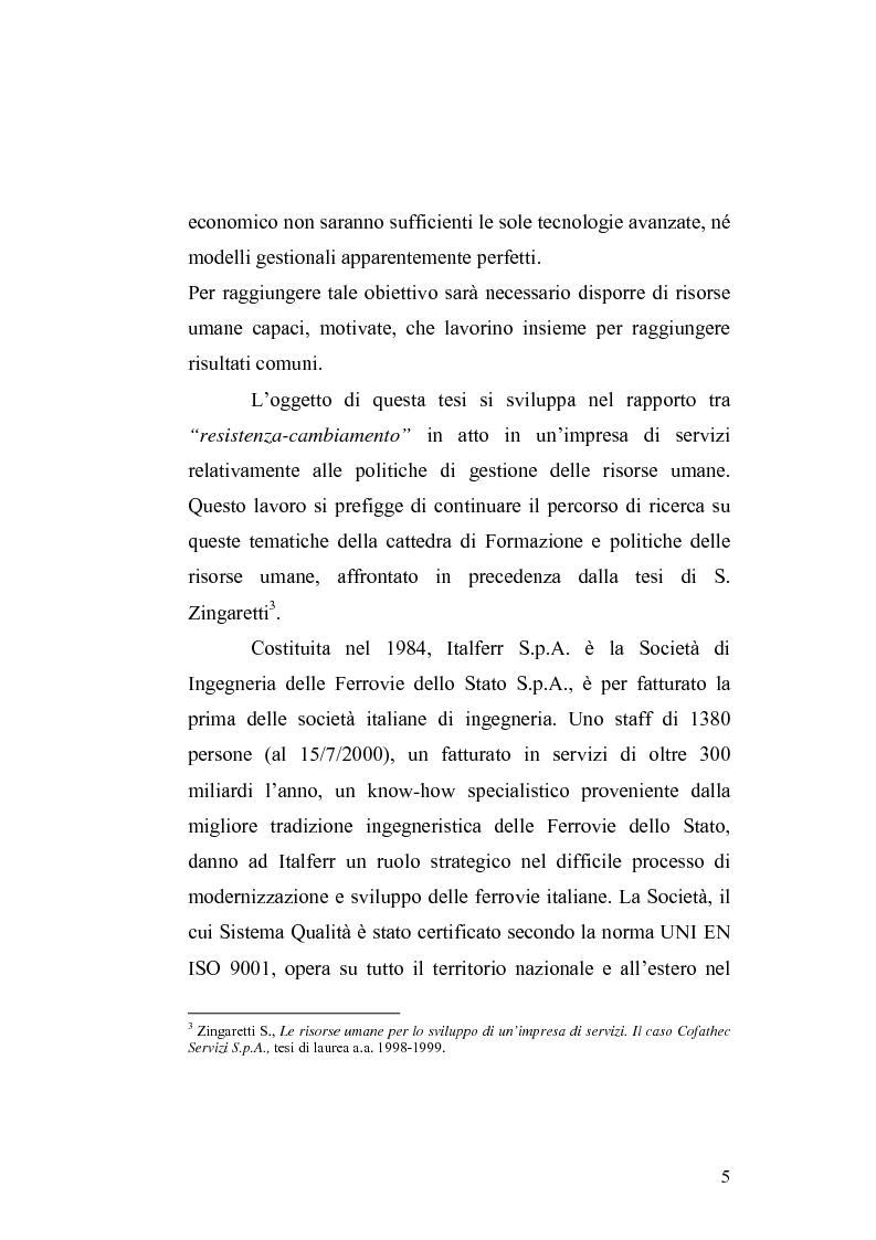 Anteprima della tesi: Il cambiamento culturale. Sviluppo, aggiornamento e consolidamento delle competenze: il caso Italferr, Pagina 2