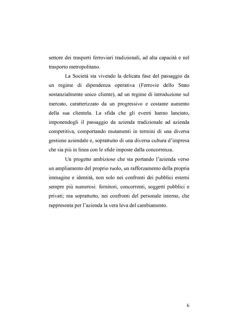 Anteprima della tesi: Il cambiamento culturale. Sviluppo, aggiornamento e consolidamento delle competenze: il caso Italferr, Pagina 3