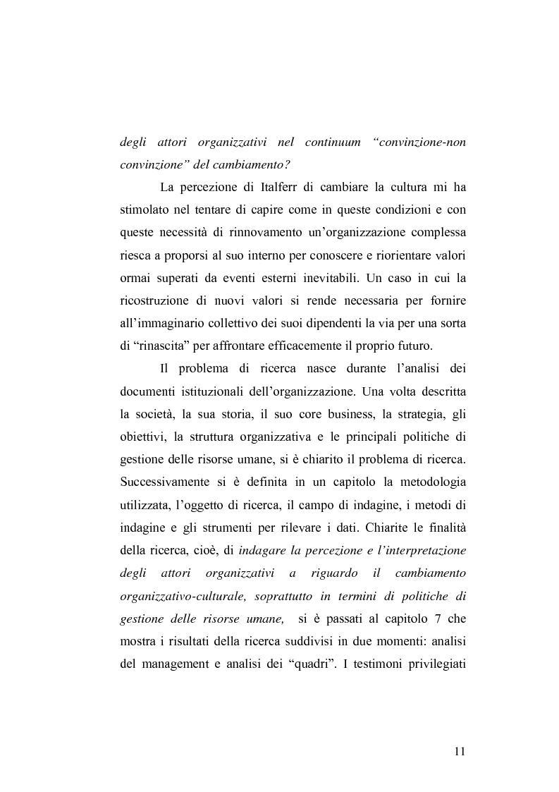 Anteprima della tesi: Il cambiamento culturale. Sviluppo, aggiornamento e consolidamento delle competenze: il caso Italferr, Pagina 8