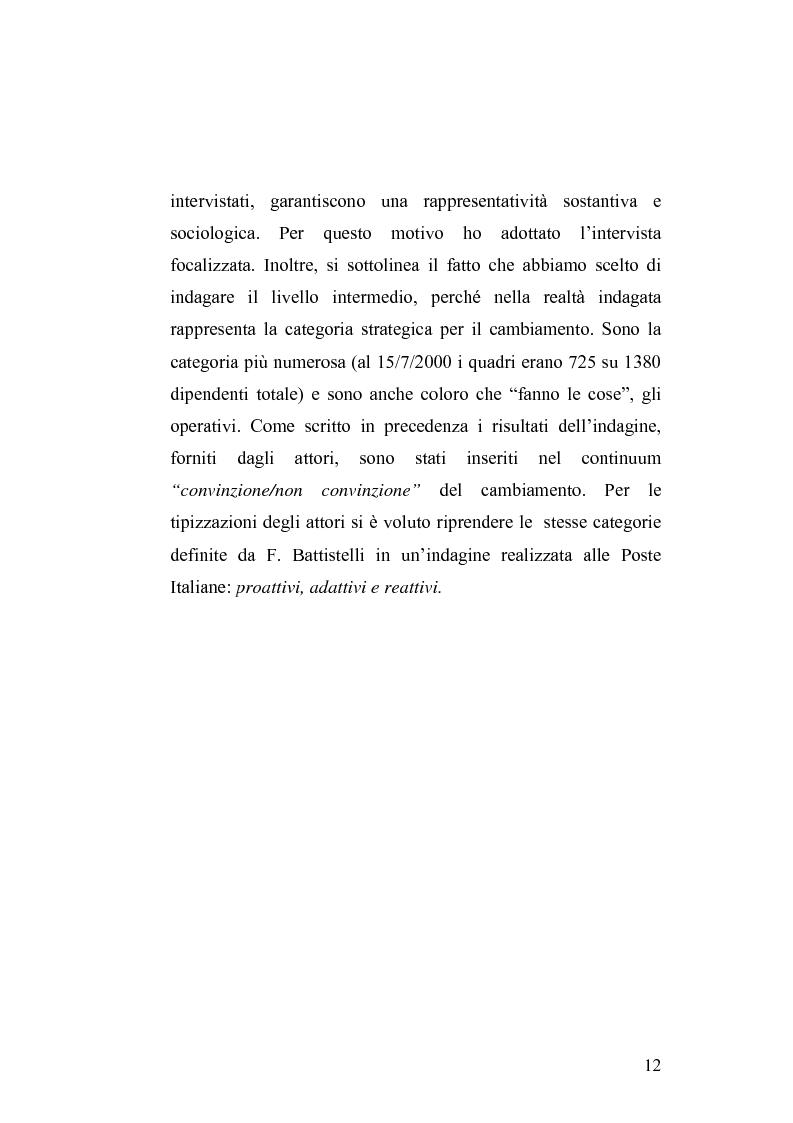 Anteprima della tesi: Il cambiamento culturale. Sviluppo, aggiornamento e consolidamento delle competenze: il caso Italferr, Pagina 9