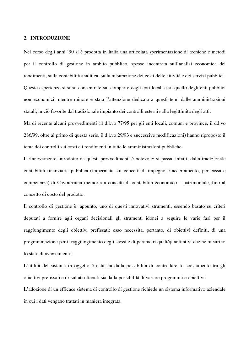 Anteprima della tesi: Il controllo di gestione negli enti pubblici istituzionali: il caso dell'Inpdap, Pagina 1