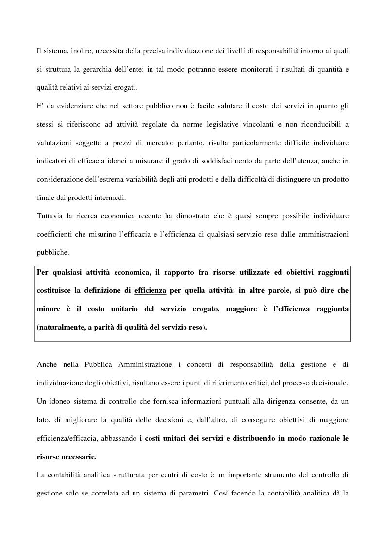 Anteprima della tesi: Il controllo di gestione negli enti pubblici istituzionali: il caso dell'Inpdap, Pagina 2