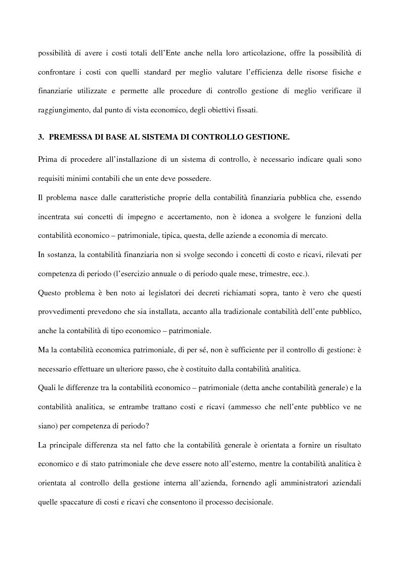 Anteprima della tesi: Il controllo di gestione negli enti pubblici istituzionali: il caso dell'Inpdap, Pagina 3