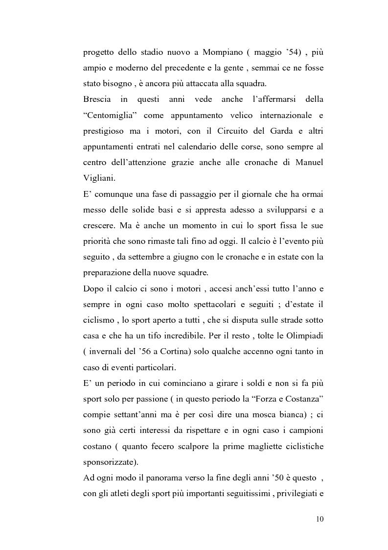 Anteprima della tesi: Le cronache sportive nella stampa bresciana del secondo dopoguerra, Pagina 10