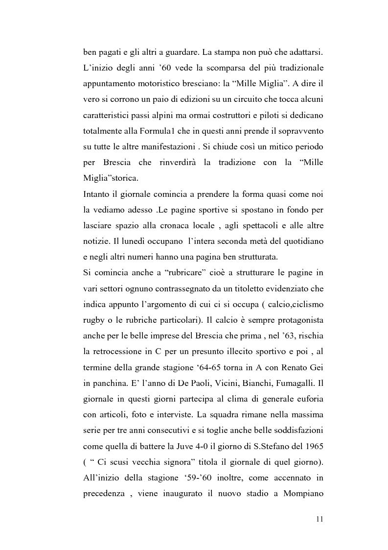 Anteprima della tesi: Le cronache sportive nella stampa bresciana del secondo dopoguerra, Pagina 11