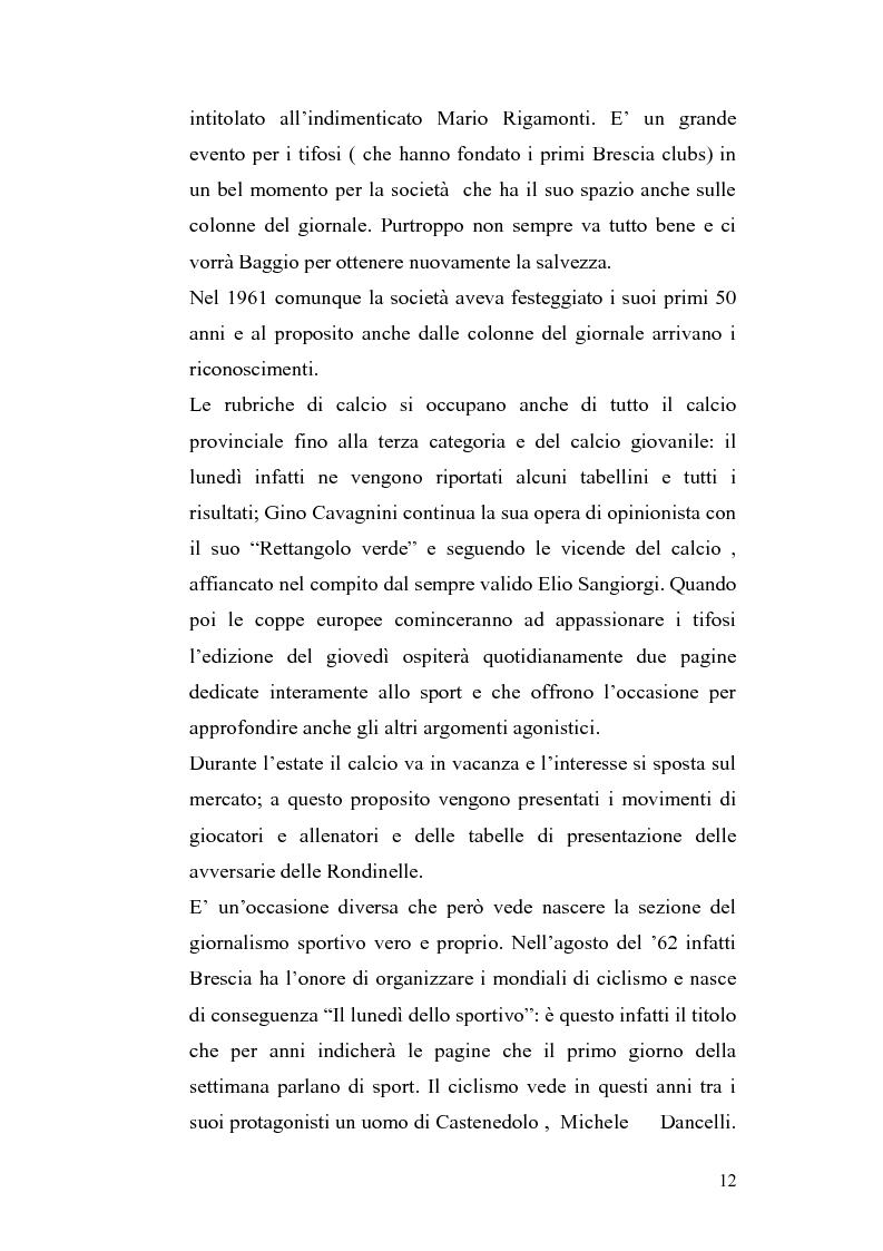 Anteprima della tesi: Le cronache sportive nella stampa bresciana del secondo dopoguerra, Pagina 12