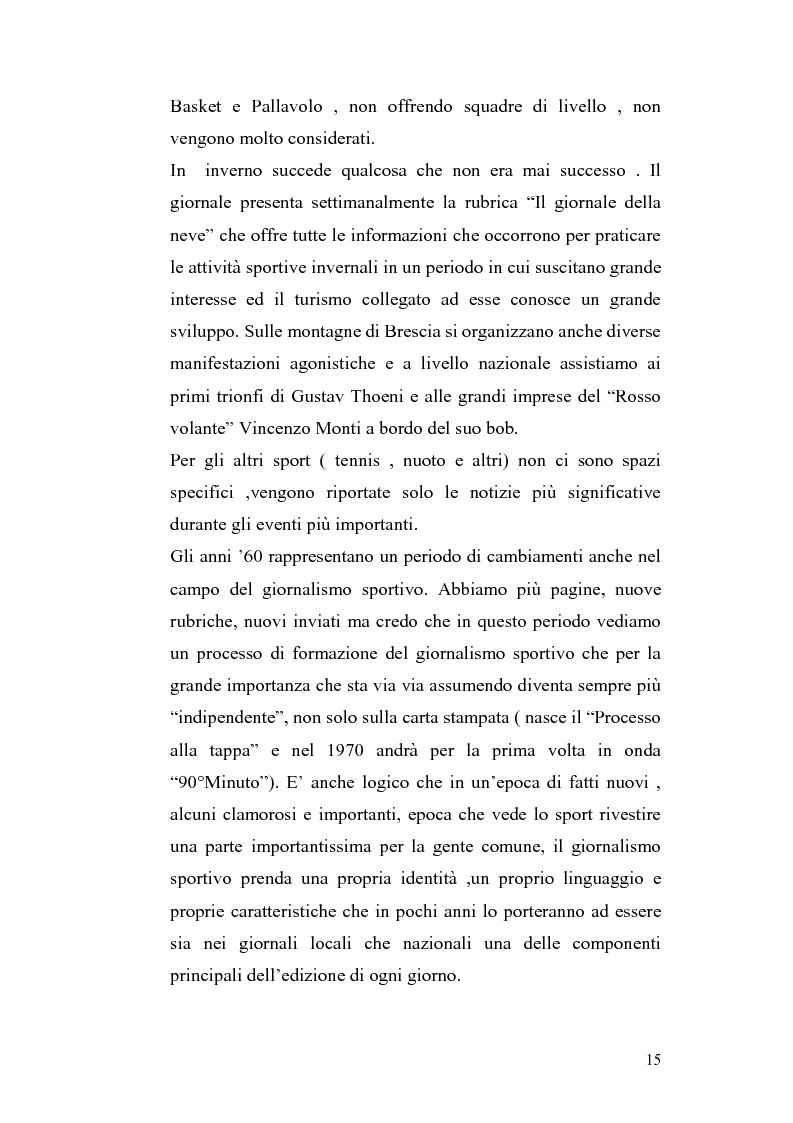 Anteprima della tesi: Le cronache sportive nella stampa bresciana del secondo dopoguerra, Pagina 15