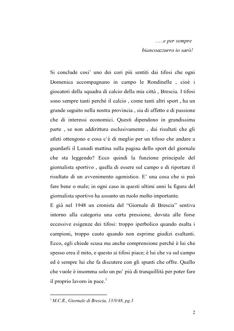 Anteprima della tesi: Le cronache sportive nella stampa bresciana del secondo dopoguerra, Pagina 2