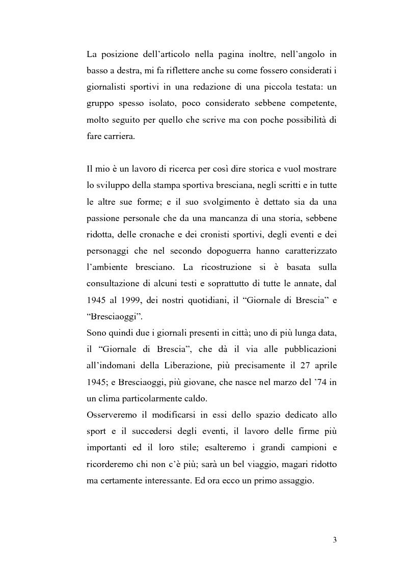 Anteprima della tesi: Le cronache sportive nella stampa bresciana del secondo dopoguerra, Pagina 3