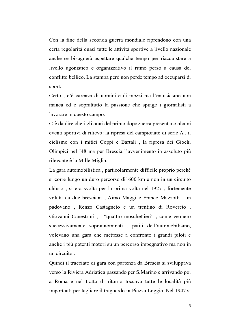 Anteprima della tesi: Le cronache sportive nella stampa bresciana del secondo dopoguerra, Pagina 5