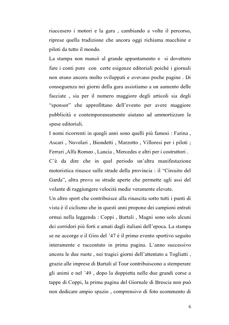 Anteprima della tesi: Le cronache sportive nella stampa bresciana del secondo dopoguerra, Pagina 6